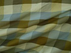 "54"" Silk Dupioni 3"" Plaid - Savannah Horizon 