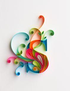 Handmade paper Monogram initial artwork//Quilled by JasmeetKohli - Salvabrani Quilling Jewelry, Arte Quilling, Quilling Letters, Paper Quilling Patterns, Quilled Paper Art, Quilling Paper Craft, Paper Crafts, Quilling Images, Quilling Tutorial