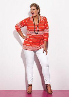 #Virtu Martine Jean $79.95  #plussize #curvy #white