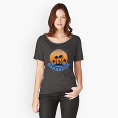 Barbados Travel Gift. Travel Gift. Barbados travel or holiday souvenir tee shirt are the perfect to wear to the beach surfing or sailing. Perfect gift for someone travelling to Barbados. Graphic T Shirts, My T Shirt, Neck T Shirt, Bts Shirt, Daddy Shirt, Loose Fit, Fashion Art, Mom Fashion, Vegan Fashion