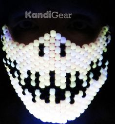 Glow In The Dark Skeleton Kandi Mask by KandiGeardotcom on Etsy, $19.95