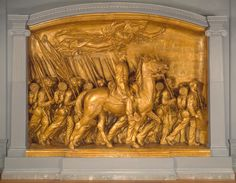 Art + social studies lesson idea: Through this sculpture by Augustus Saint-Gaudens, students will learn about the 1st African American regiment that fought in the Civil War, then compare their portrayal in letters, films, and poetry. [Augustus Saint-Gaudens, Shaw Memorial, 1900, patinated plaster, U.S. Department of the Interior, National Park Service, Saint-Gaudens National Historic Site, Cornish, New Hampshire] #blackhistorymonth