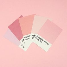 Millennial Pink Pantone Paint Swatches