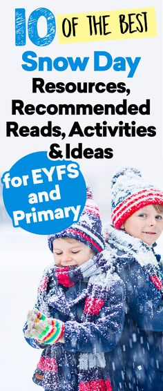 10 of the Best Snow Day Resources, Activities, Ideas and Recommended Reads for EYFS and Primary Snow Activities, Spring Activities, Literacy Activities, Toddler Activities, Outdoor Activities, Key Stage 2, Spring Term, Foundation Stage, Winter Things