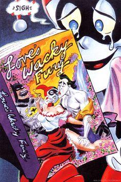 Batman Adventures: Mad Love promotional art by Bruce Timm Bruce Timm, Dc Comics, Nananana Batman, Batman The Animated Series, Im Batman, Joker And Harley Quinn, Fan Art, Gotham City, Catwoman
