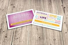 doTERRA Business Cards  Word Collage by EssentialOilPrint on Etsy