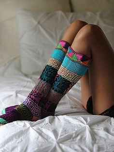 fun colorful slipper socks http://rstyle.me/n/s7nc5r9te