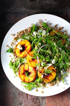 Grilled Peach Salad,