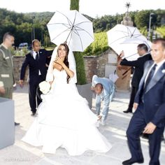 Yolanthe: February 27, 2013 Love is... 'Your husband taking care of your wedding dress...' #Sweet!!! x