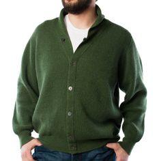 PETER SCOTT 100% Cahmere 3 Ply Knitted V Neck Cardigan 23085: Serpantine -Peter Scott Gents - Dunedin Cashmere