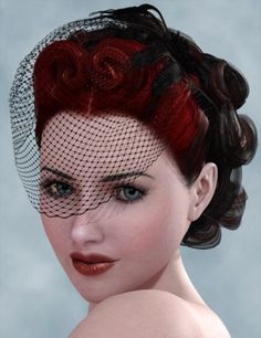 Always been one of my favorite hairdos, identical to a real bride I saw on Rock'n'Roll Bride:)