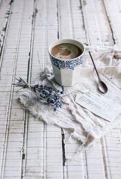lavanda lavander lavender lavendel  Puro Organic Fair Trade Coffee by Beth Kirby | {local milk} via Flickr