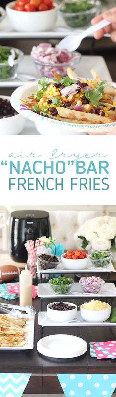 Nacho Bar French Fries with Philips AirFryer Appetizer Recipes, Snack Recipes, Appetizers, Sandwich Recipes, Nacho Bar, Best Dinner Recipes, Delicious Recipes, Good Food