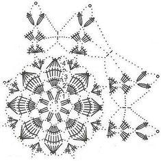 "The motif ""The Great Star"" Crochet Snowflake Pattern, Christmas Crochet Patterns, Crochet Stars, Crochet Snowflakes, Christmas Knitting, Crochet Patterns Amigurumi, Christmas Art, Christmas Ornaments, Crochet Diagram"