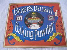 Baker's Delight Baking Powder Butter Eggs Store Display Advertising Price Sign #BakersDelightBakingPowder