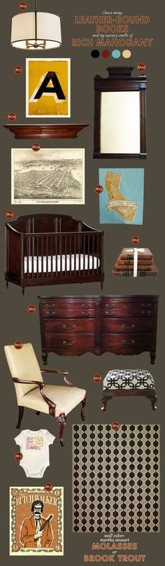 """Another nursery that is from one of husbands favorite movies. By lay Baby Lay called  """"leather bound books."""""""