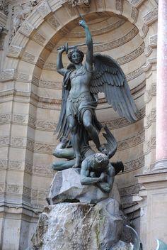 saint michael statue - Buscar con Google