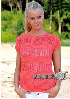 Вязаная спицами красивая ажурная блуза Cardigan Pattern, Knit Cardigan, Summer Knitting, Hand Knitting, Knitting Designs, Knitting Projects, Knitting Patterns, Alpacas, Crochet Top