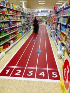 FG Cycle 16 2012 Full Length Graphics P AND G 1 225x300 P&G Running Track Floor Graphic