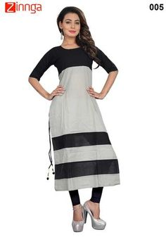 303133739bd Grey and Black Color Camric Cotton Stitched Kurti  kurti  fashion  latest   trendy