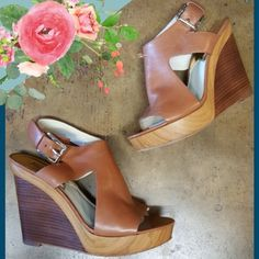 Michael Kors Wedges, size 9M!  - Ohhhh you know you want these awesome wedges by Michael Kors!  - $48 #michaelkors #musthave #wedge #fashion #designer #consignment #shoplocal #ShopPosh #boutique