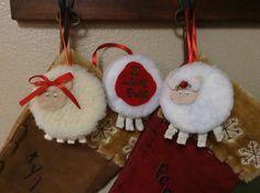 """""""I Love Ewe"""" sheep ornament. Very easy."""