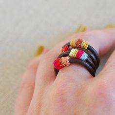 crocheted rings