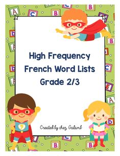 This PDF includes:- 80 high frequency French words appropriate for grade 1-3 French immersion. (examples: je peux, c'est, je sais, trs, etc)These words are divided into groups of 10 words to use for weekly words, word work, or 5 au quotidien.- Also included are decorative pages with 10 blanks for students to practise or be tested on their words.