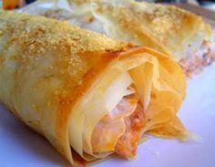 Las recetas de Clavo y Canela: Pastel de Pasta Filo rellena de Carne y Quesos