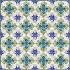 """Sedona Quilt Kit by Christine Stainbrook for Anthology Fabrics - 60x60"""" - 2 block quilt"""
