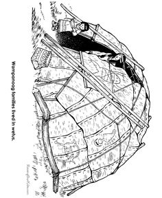 early settlers coloring pages - photo#35