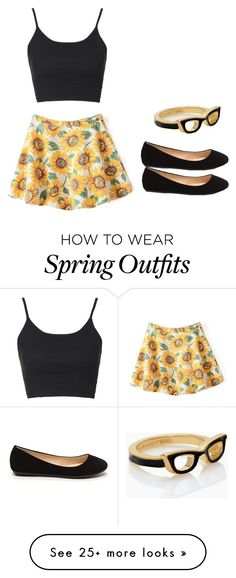 """Spring outfit"" by madisenharris on Polyvore featuring Topshop and Kate Spade"