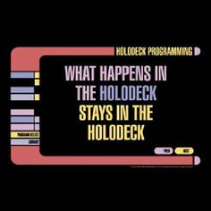 Star Trek: The Next Generation Holodeck Secrets T-Shirt-Medium  And no diseases unless there's a malfunction
