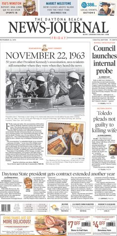 Florida. | How Newspapers From All 50 States Remembered The Kennedy Assassination