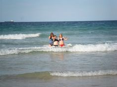 Manley Beach - Sydney, Australia... first three to go in the ocean, two Canadians of course lol.