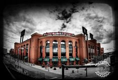 I love this picture of Busch Stadium