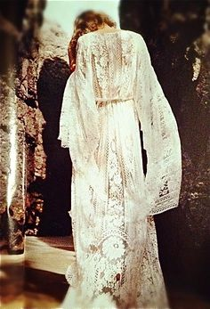 Full lace robe and suddenly I feel as if the Victorian Age and Ancient Myth have merged into something I want so desperately to wear.
