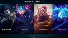 League of Legends Official Honor Explained Trailer Riot Games goes over the updated system designed to give praise to teammates. June 28 2017 at 04:50PM  https://www.youtube.com/user/ScottDogGaming
