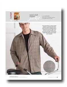 Pattern: Men's Fall Zipper Jacket - Media - Sew Daily
