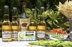 Mexican Summer Beer ~ You will need: 4 (6 is even better) cold Corona Light beers; 1 can of frozen limeade concentrate; 1 empty limeade can of your favorite vodka