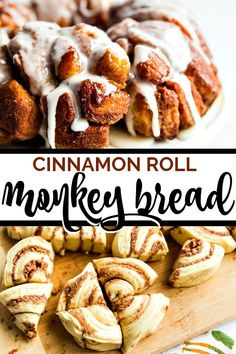 Two of my all time favorite easy breakfast recipes to be cinnamon rolls and monkey bread. So this cinnamon roll monkey bread recipe was a no brainer for me. With only 5 ingredients, this recipe couldn Homemade Monkey Bread, Apple Monkey Bread, Cinnamon Roll Monkey Bread, Recipe For Monkey Bread, Biscuit Cinnamon Rolls, Cinnamon Roll Pancakes, Sweet Breakfast, Breakfast For Kids, Breakfast Recipes