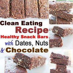 Like to snack? These home-made healthy snack bars might be what you're looking for! Made with cashews, almonds, dates and dark cocoa, they're sweet and tasty, and are also nutritious. #cleaneating #healthyeating #snacks