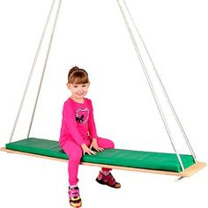 The Edge Series Padded Glider Swing provides vestibular motion, visual and spatial perception and can improve postural control.
