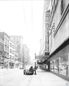 Description: Shillito's. Huber Art. Levine and Roseberg Furs. Oskamp Nolting Jewelers. Ochers. 7th Street near Race and Elm. Location: Cincinnati Date: circa 1949 Source: Lawrence Brand Collection http://www.kentonlibrary.org/genphotos/viewimage.php?i=di107657