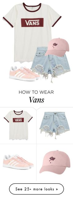 """VANS"" by fashiongirlprox on Polyvore featuring Vans, Chicnova Fashion and adidas Originals"