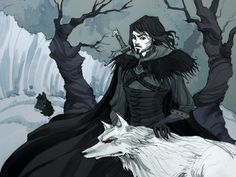 (Music: Ramin Djawadi – Bastard) Jon Snow, the future King of the North Pigmented ink fineliner, watercolor and a bit of Photosho. Fantasy Comics, Anime Fantasy, Fantasy Art, Jon Snow, Game Of Thrones Wallpaper, Ice Magic, Horror Tale, Game Of Trones, Horror Artwork