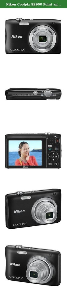 Nikon Coolpix S2900 Point and Shoot Digital Camera with 5x Optical Zoom (Black) - International Version (No Warranty). The Nikon S2900 offers an effective pixel count of 20.1-million pixels*2, and is equipped with a 5x optical zoom NIKKOR lens that covers the wide-angle 26 mm to telephoto 130 mm angles of view (equivalent focal lengths in 35mm [135] format) and utilizes Dynamic Fine Zoom to increase zoom capability up to approximately 10x, all in a slim body with a depth measuring...