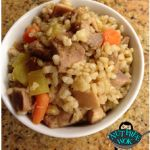 allergy-friendly beef fried rice -- with parmesan!