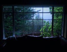 evening, green, home, nature, photography, rain, rainy days, tumblr, window