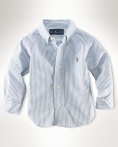 Ralph Lauren Childrenswear Infant Boys' Oxford Shirt - Sizes 9-24 Months